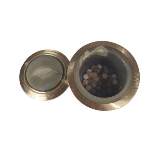 laarmann agate grinding jar open