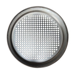 test sieve round hole perforated plate top view